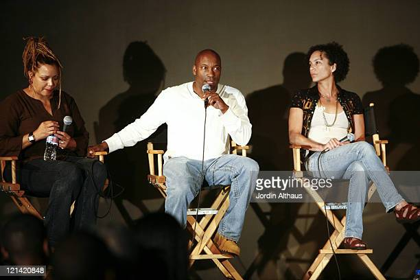 Kasi Lemmons, John Singleton and Stephanie Allain during 2007 Los Angeles Film Festival - Paint It Black - AA Film Now at Hammer Museum in Westwood,...