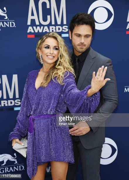 Kasi Williams and Chuck Wicks attend the 54th Academy Of Country Music Awards at MGM Grand Hotel Casino on April 07 2019 in Las Vegas Nevada