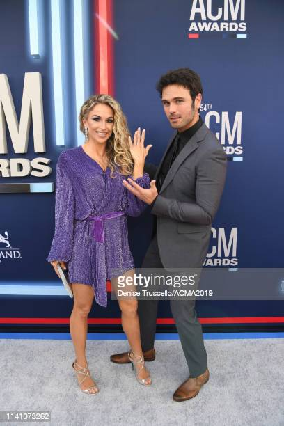 Kasi Williams and Chuck Wicks attend the 54th Academy Of Country Music Awards at MGM Grand Hotel & Casino on April 07, 2019 in Las Vegas, Nevada.