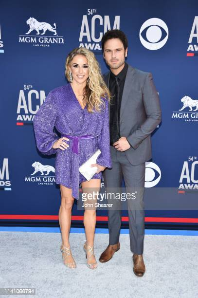 Kasi Williams and Chuck Wicks attends the 54th Academy Of Country Music Awards at MGM Grand Hotel Casino on April 07 2019 in Las Vegas Nevada