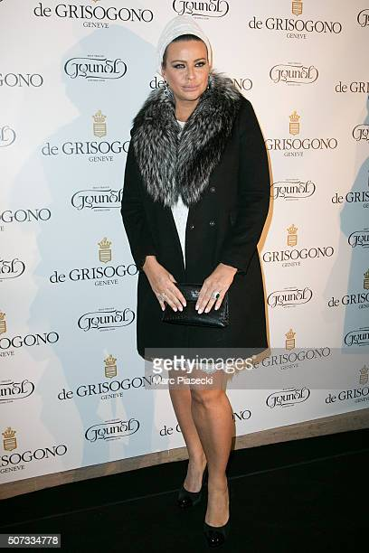 Kasia Al Thani attends the 'De Grisogono' La Boetie cocktail on January 28 2016 in Paris France