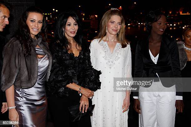 Kasia Al Thani FrenchAlgerian film director Yamina Benguigui Queen Noor of Jordan and politician Rama Yade attend the Cinema Verite Award Ceremony...