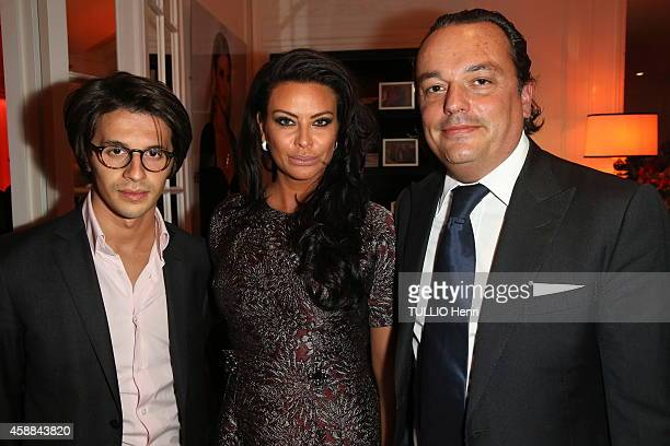 Kasia AlThani Sebastien Peiffert Gilles Mansard attend the Grisogono Watch Crazy Skull Launch Party on October 23 2014 in Paris France