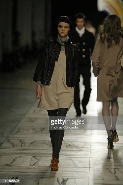 Kasia Kniola wearing 3.1 Phillip Lim Fall 2007 during Mercedes-Benz Fashion Week Fall 2007 - 3.1 Phillip Lim - Runway at Waterfront Building in New...
