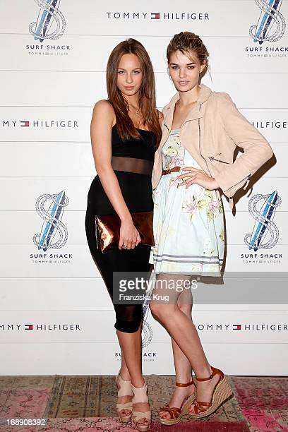 Kasia Lenhard and Louisa Hartema attend the Tommy Hilfiger Surf Shack Cocktail Event at the Tommy Hilfiger Store on May 16 2013 in Hamburg Germany