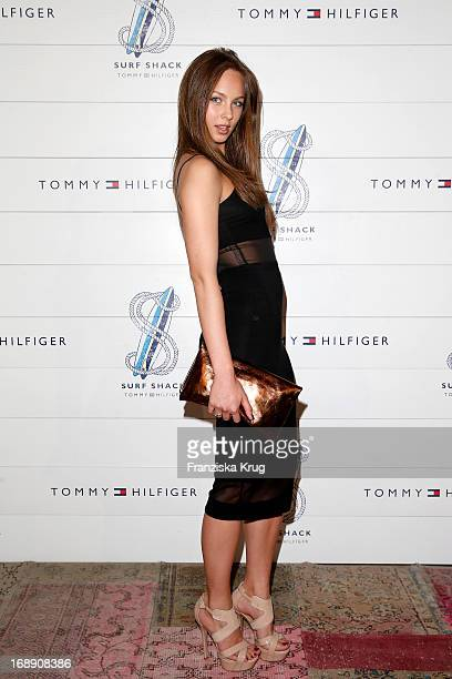 Kasia Lenhard attends the Tommy Hilfiger Surf Shack Cocktail Event at the Tommy Hilfiger Store on May 16 2013 in Hamburg Germany