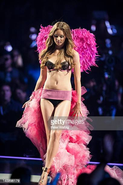 Kasia Lenhard during the Germany's Next Topmodel Finals at the LanxessArena on June 07 2012 in Cologne Germany