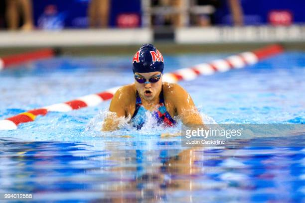 Kasia Norman competes in the women's 100m breaststroke prelims at the 2018 TYR Pro Series on July 8 2018 in Columbus Ohio