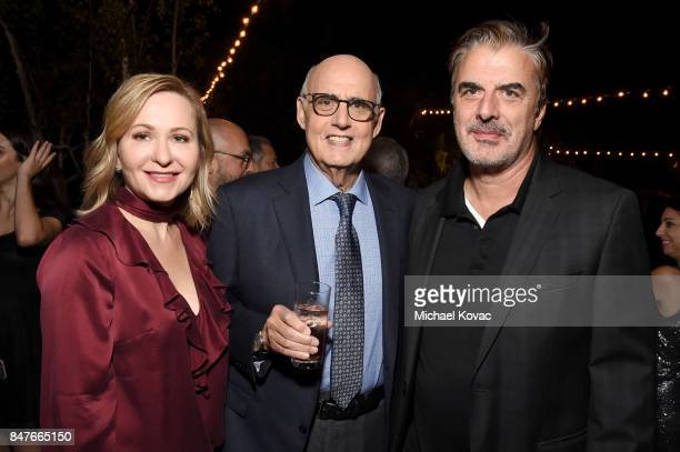 Kasia Ostlun Jeffrey Tambor and Chris Noth attend the 2017 Gersh Emmy Party presented by Tequila Don Julio 1942 on September 15 2017 in Los Angeles...