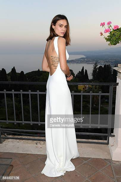Kasia Smutniak attends a cocktail party ahead of Nastri D'Argento on July 2 2016 in Taormina Italy