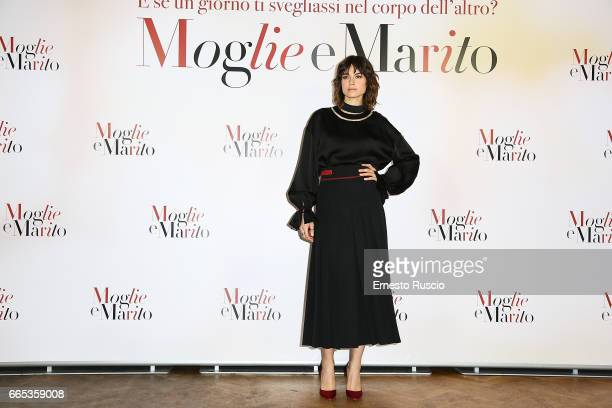 Kasia Smutniak attends a photocall for 'Moglie E Marito' on April 6 2017 in Rome Italy