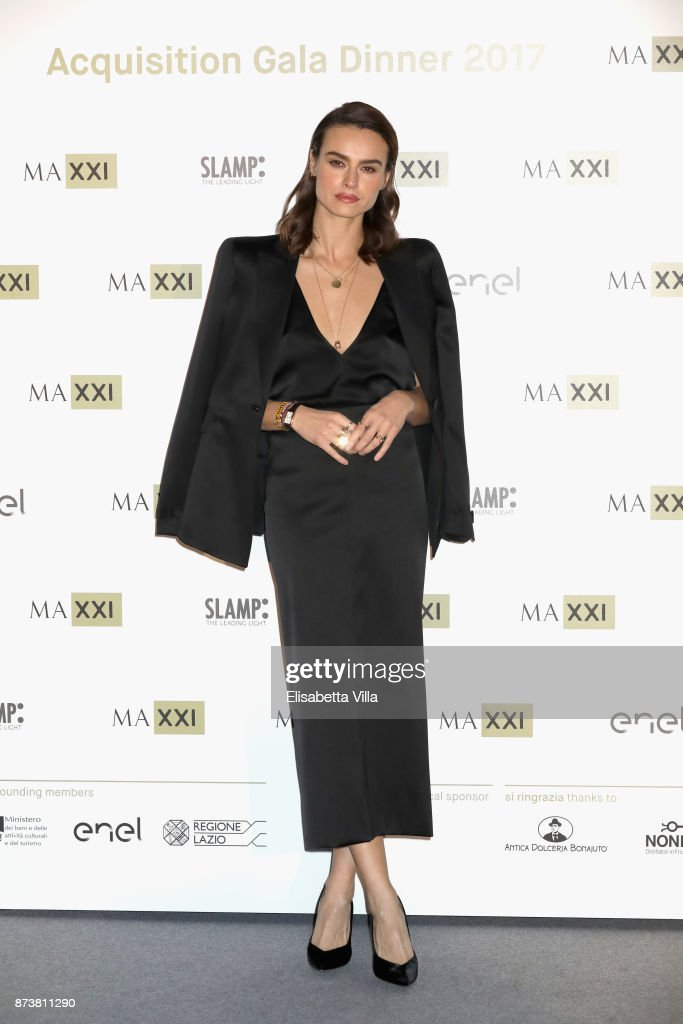 Kasia Smutniak attends MAXXI Acquisition Gala Dinner 2017 at Maxxi on November 13, 2017 in Rome, Italy.