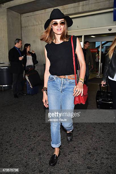 Kasia Smutniak is seen at Nice Airport during the 68th annual Cannes Film Festival on May 16 2015 in Cannes France