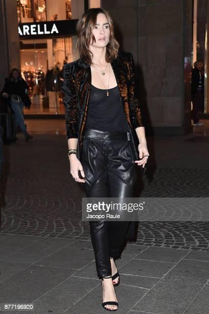 Kasia Smutniak is seen on November 21 2017 in Milan Italy