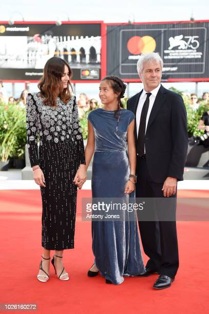 Kasia Smutniak Sophie Taricone and Domenico Procacci walks the red carpet ahead of the 'My Brilliant Friend ' screening during the 75th Venice Film...