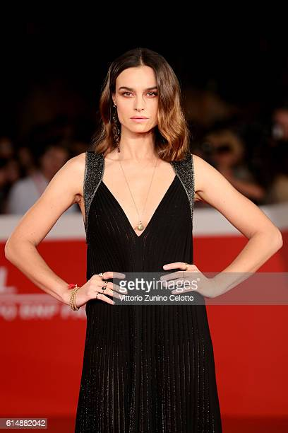 Kasia Smutniak walks a red carpet for 'Sole Cuore Amore' during the 11th Rome Film Festival at Auditorium Parco Della Musica on October 15 2016 in...