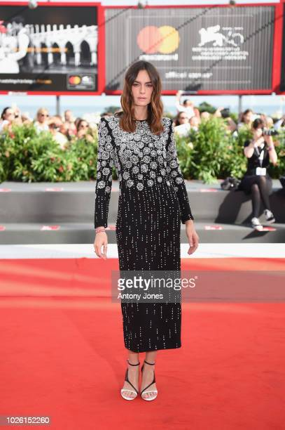 Kasia Smutniak walks the red carpet ahead of the 'My Brilliant Friend ' screening during the 75th Venice Film Festival at Sala Grande on September 2...