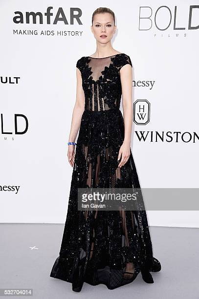 Kasia Struss arrives at amfAR's 23rd Cinema Against AIDS Gala at Hotel du CapEdenRoc on May 19 2016 in Cap d'Antibes France