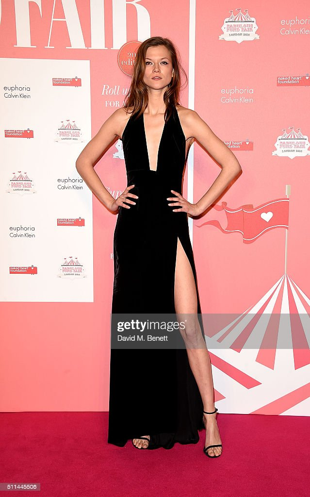 Kasia Struss at The Naked Heart Foundation's Fabulous Fund Fair in London at Old Billingsgate Market on February 20, 2016 in London, England.