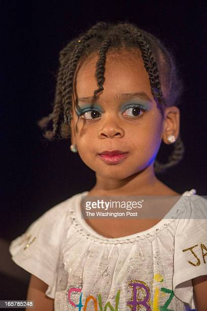 KaSiah Clark 2 of Severn Maryland shows off her casual wear in the 3rd Annual Glynn Jackson's Show Biz Kidz at The Silver Spring Civic Building in...