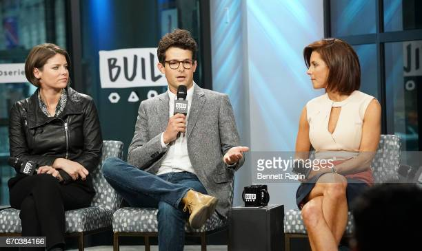 Kasie Hunt Jacob Soboroff and Stephanie Ruhle attend the Build Series to discuss Notes From The Newsroom 100 Days Of Trump at Build Studio on April...