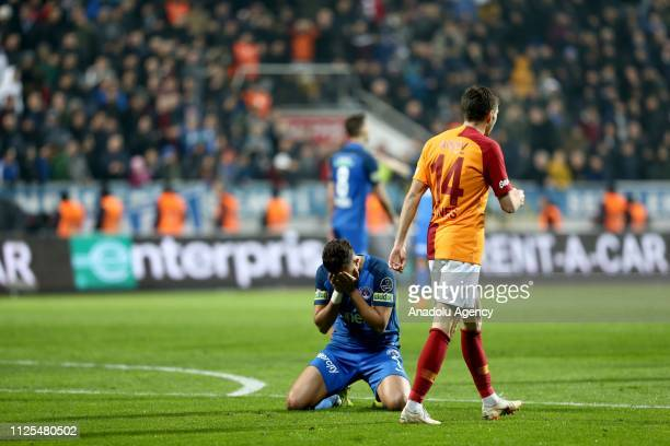 Kasimpasa's Trezeguet gestures during the Turkish Super Lig soccer match between Kasimpasa and Galatasaray at Recep Tayyip Erdogan Stadium in...
