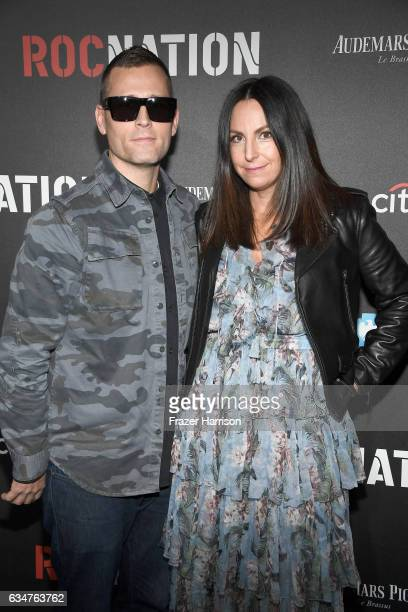 Kaskade and Naomi Raddon attend 2017 Roc Nation PreGrammy Brunch at a private residence on February 11 2017 in Los Angeles California