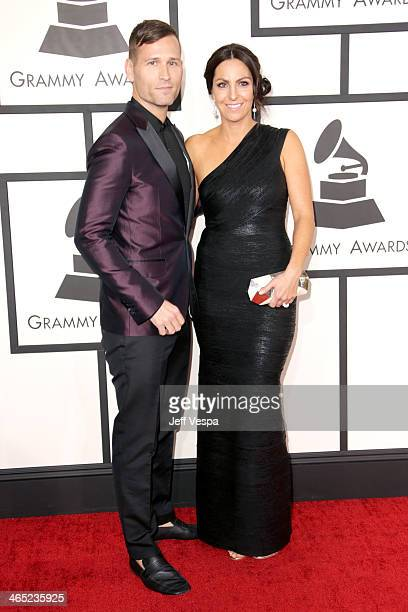 Kaskade and Naomi Raddon attend the 56th GRAMMY Awards at Staples Center on January 26 2014 in Los Angeles California