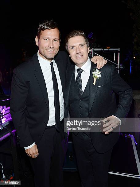 Kaskade and Pasquale Rotella during Pasquale Rotella's wedding reception at Disneyland on September 10 2013 in Anaheim California