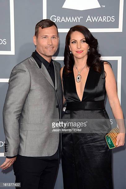 Kaskade and wife Naomi Raddon arrive at the 55th Annual GRAMMY Awards at Staples Center on February 10 2013 in Los Angeles California