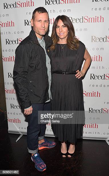 Kaskade and wife Naomi Raddon attend the Reed Smith GRAMMY Party at The Sayers Club on February 10 2016 in Hollywood California