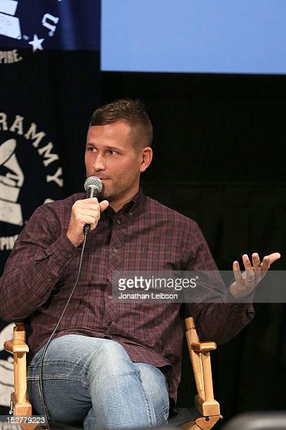 Kaskade attends the GRAMMY U Los Angeles Presents Up Close And Personal With Steve Aoki And Kaskade at Los Angeles Film School on September 25 2012...
