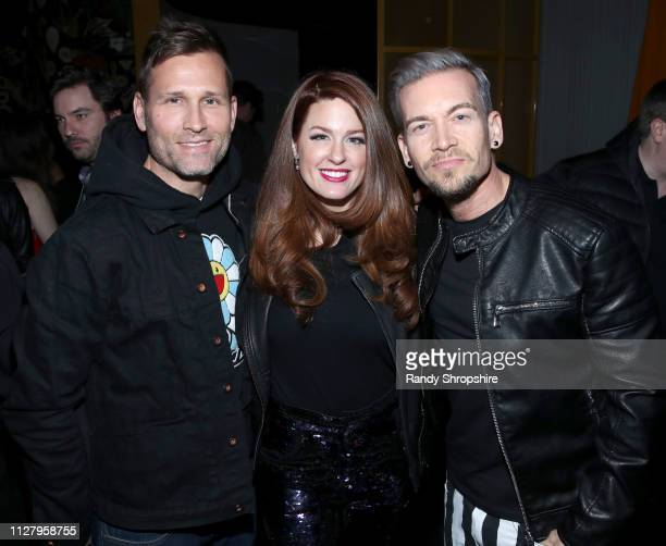 Kaskade Hilary Roberts and Damon Sharpe attend Reed Smith Grammy Party at Nightingale Plaza on February 06 2019 in Los Angeles California