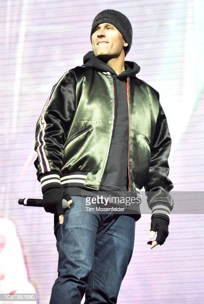 Kaskade performs during the 2018 SnowGlobe Music Festival at Lake Tahoe Community College on December 29 2018 in South Lake Tahoe California