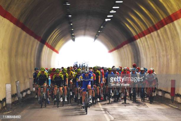 Kasper Asgreen of Denmark and Deceuninck - Quick-Step / Peloton / Tunnel / during the 54th Tirreno-Adriatico 2019, Stage 6 a 195km stage from...
