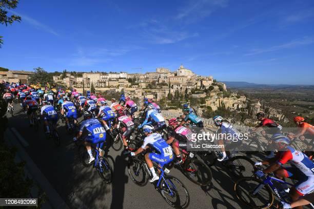 Kasper Asgreen of Denmark and Team Deceuninck - Quick Step / Andrea Bagioli of Italy and Team Deceuninck - Quick Step / Pierre Idjouadiene of France...