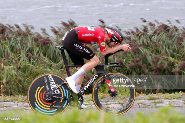 Kasper Asgreen of Denmark and Team Deceuninck - Quick-Step competes during the 17th Benelux Tour 2021, Stage 2 a 11,1km Individual Time Trial stage...