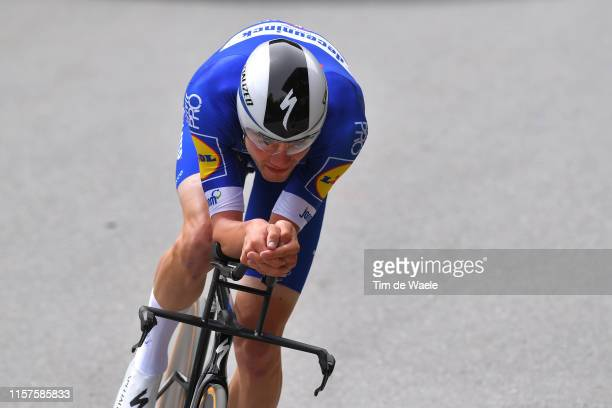 Kasper Asgreen of Denmark and Team Deceuninck QuickStep / during the 83rd Tour of Switzerland Stage 8 a 192km Individual Time Trial stage from...