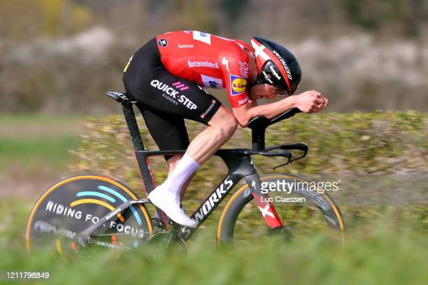 Kasper Asgreen of Denmark and Team Deceuninck QuickStep / during the 78th Paris Nice 2020 Stage 4 a 151km Individual Time Trial from...