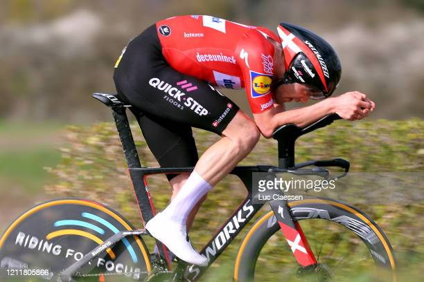 Kasper Asgreen of Denmark and Team Deceuninck - Quick-Step / during the 78th Paris - Nice 2020, Stage 4 a 15,1km Individual Time Trial from...