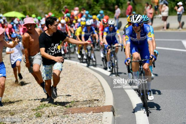 Kasper Asgreen of Denmark and Team Deceuninck - Quick-Step / Fans / Feed Zone / during the 106th Tour de France 2019, Stage 10 a 217,5km stage from...