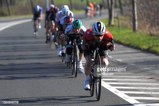 Kasper Asgreen of Denmark and Team Deceuninck - Quick-Step & Ide Schelling of Netherlands and Team Bora - Hansgrohe during the 73rd Kuurne -...