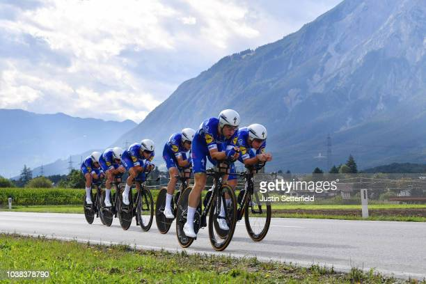 Kasper Asgreen of Denmark / Laurens De Plus of Belgium / Bob Jungels of Luxembourg / Yves Lampaert of Belgium / Maximilian Schachmann of Germany /...