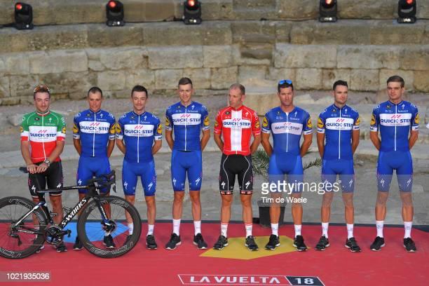 Kasper Asgreen of Denmark / Laurens De Plus of Belgium / Dries Devenyns of Belgium / Enric Mas of Spain / Michael Morkov of Denmark / Fabio Sabatini...