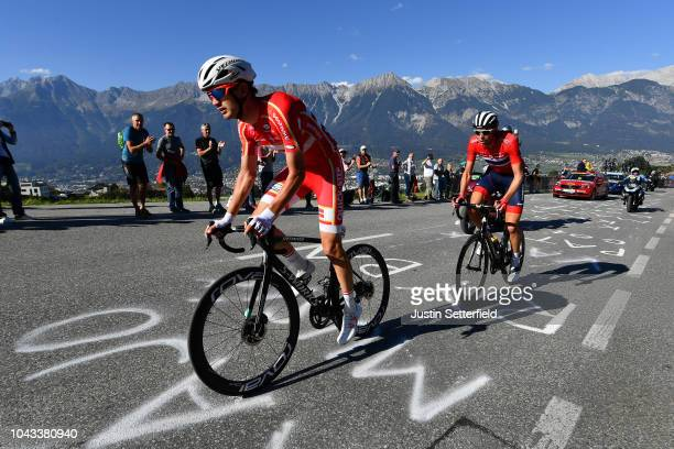 Kasper Asgreen of Denmark / Public / Mountains / uring the Men Elite Road Race a 2585km race from Kufstein to Innsbruck 582m at the 91st UCI Road...