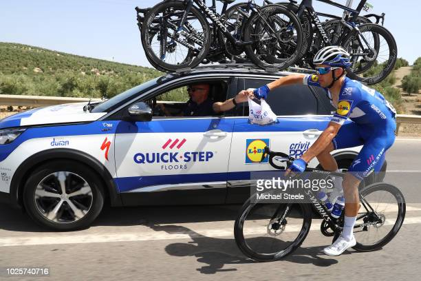 Kasper Asgreen of Denmarkand Team Quick-Step Floors / Feed Zone / Car / during the 73rd Tour of Spain 2018 / Stage 8 a 195,1km stage from Linares to...
