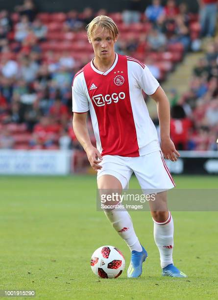 Kasper Dolberg of Ajax during the Club Friendly match between Walsall FC v Ajax at the Bescot Stadium on July 19 2018 in Walsall United Kingdom