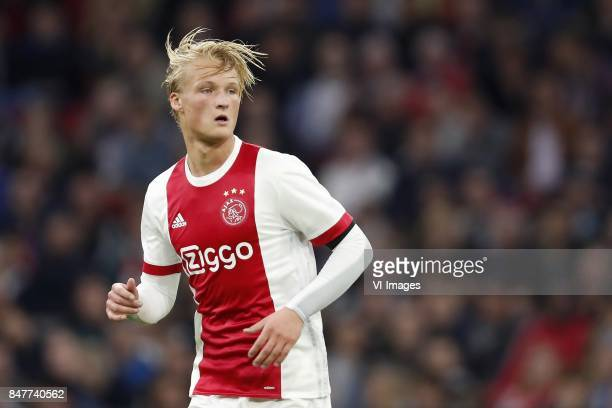 Kasper Dolberg of Ajax during the Dutch Eredivisie match between Ajax Amsterdam and PEC Zwolle at the Amsterdam Arena on September 09 2017 in...