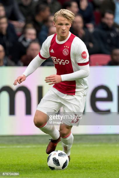 Kasper Dolberg of Ajax during the Dutch Eredivisie match between Ajax Amsterdam and Roda JC at the Amsterdam Arena on November 26 2017 in Amsterdam...