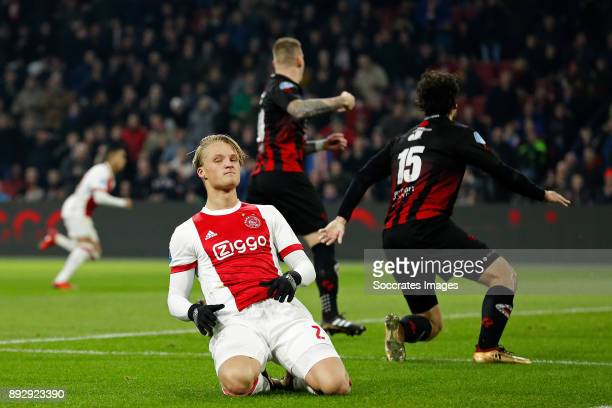 Kasper Dolberg of Ajax during the Dutch Eredivisie match between Ajax v Excelsior at the Johan Cruijff Arena on December 14 2017 in Amsterdam...
